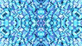 在蓝色紫色梯度颜色的抽象简单的3D背景,作为现代几何背景的低多样式或 向量例证