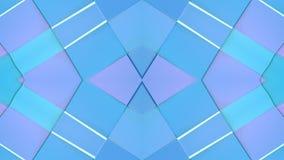 在蓝色紫色梯度颜色的抽象简单的3D背景,作为现代几何背景的低多样式或 库存例证
