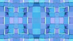 在蓝色紫色梯度颜色的抽象简单的3D背景,作为现代几何背景的低多样式或 皇族释放例证