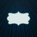 在蓝色纺织品背景的框架 库存照片