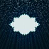 在蓝色纺织品背景的框架 免版税库存照片