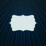 在蓝色纺织品背景的框架 库存图片