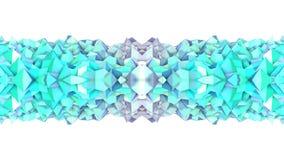 在蓝色绿松石梯度颜色的抽象简单的3D背景,作为现代几何背景的低多样式或 皇族释放例证