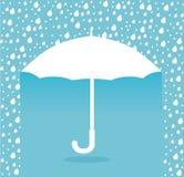 在蓝色背景传染媒介例证的伞设计 向量例证