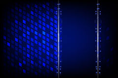 在蓝色背景的传染媒介技术 免版税库存照片