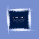 在蓝色背景的传染媒介羽毛 免版税库存图片