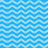 在蓝色背景的抽象无缝的波动图式 库存图片