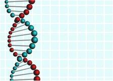 在蓝色背景的抽象脱氧核糖核酸 免版税库存图片