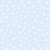 在蓝色背景的无缝的花卉样式 向量 免版税库存图片