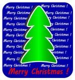 在蓝色背景的现代圣诞树, 库存照片