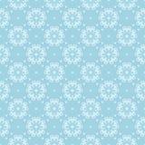 在蓝色背景的白色花卉无缝的设计 库存图片
