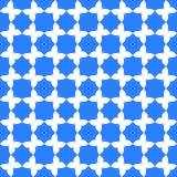 在蓝色背景的白色蝴蝶图案 库存例证