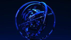 在蓝色背景的被聚光的蓝色圈子摘要 皇族释放例证