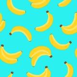 在蓝色背景的香蕉样式 也corel凹道例证向量 向量例证