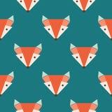 在蓝色背景的Fox样式 免版税库存照片