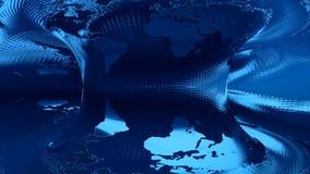 在蓝色背景转动的地球地图 皇族释放例证