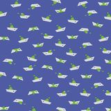 在蓝色选择2的舡鱼 免版税库存照片