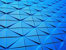 在蓝色透视的形状 图库摄影