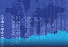 在蓝色颜色的全球性贸易 向量例证