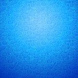 在蓝色颜色的波浪无缝的装饰背景 免版税库存图片