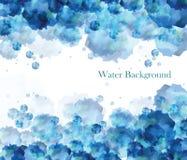 在蓝色颜色的水背景 免版税库存照片