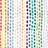 在蓝色黄色桃红色绿色的手画抽象刷子冲程在白色背景 无缝摘要重复 皇族释放例证
