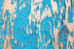 在蓝色绘的老木板 免版税库存照片