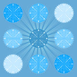 在蓝色background2的雪花 库存照片
