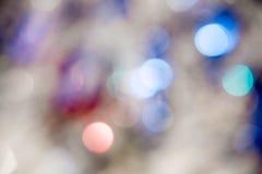 在蓝色background.abstract纹理的光 假日bokeh 摘要 圣诞节 欢乐与defocused和星 免版税图库摄影
