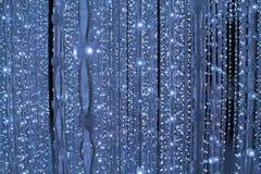 在蓝色background.abstract纹理的光 象在空间的星 库存图片