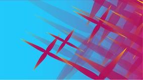 在蓝色g的一级风宇宙被雕刻的星不同的形状透明桃红色抽象容量时兴的魔术纹理  库存例证