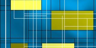 在蓝蓝背后照明的几何形状 免版税库存照片
