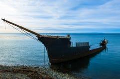 在蓬塔阿雷纳斯智利南部的海难 免版税图库摄影