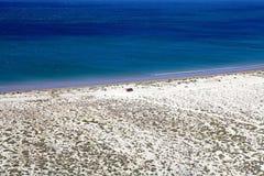 在蓬塔Loma在马德林港附近,一个城市以后的海岸在丘布特省,巴塔哥尼亚,阿根廷 库存照片