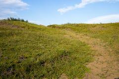 在蔓越桔舱内甲板保护地区萨斯卡通的供徒步旅行的小道 库存图片