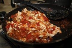 在蕃茄的肉 免版税库存图片