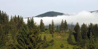 在薄雾的山 免版税库存图片