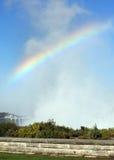 在薄雾的彩虹 库存照片