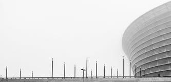 在薄雾的建筑结构 免版税库存图片