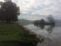 在薄雾的Holkham庄园 图库摄影