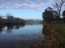 在薄雾的Holkham庄园 库存图片