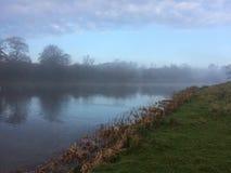 在薄雾的Holkham庄园 免版税库存照片