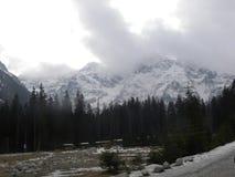 在薄雾的Tatras山 图库摄影