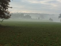 在薄雾1的Holkham庄园 库存图片