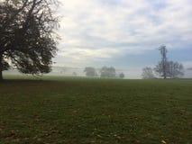 在薄雾1的Holkham庄园 免版税库存照片