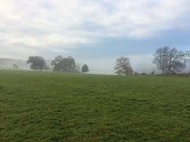 在薄雾1的Holkham庄园 免版税库存图片
