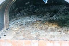 在薄饼烤箱的冷的灰 免版税图库摄影