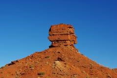 在虚张声势,犹他附近的红色岩层 免版税库存图片