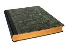 在蛇纹岩盖子的古色古香的书 库存图片