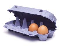在蛋盒的红皮蛋 图库摄影